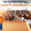 Call for Presentations for Capacity Day 2017!